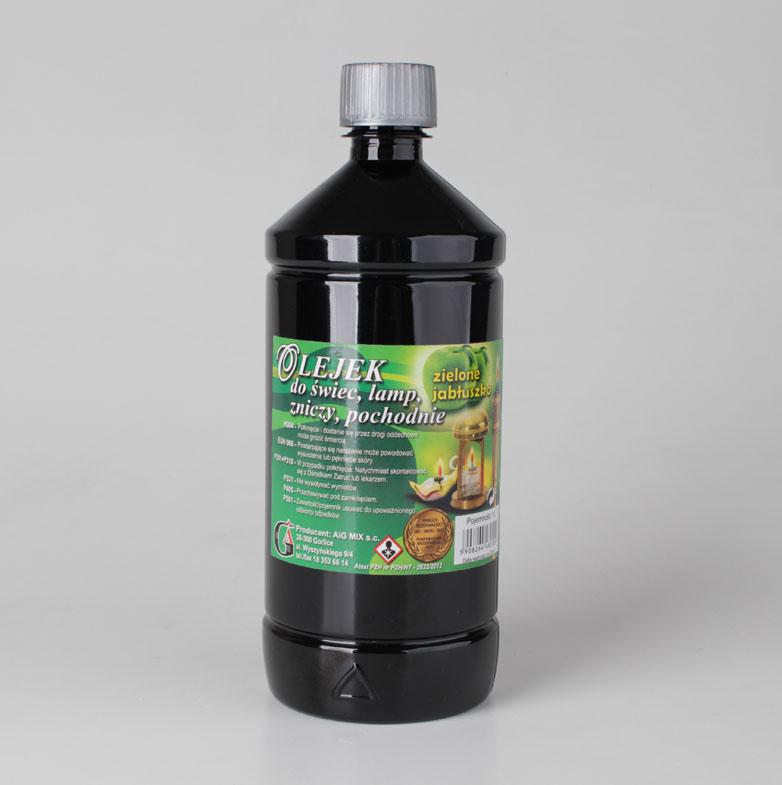 Olejek do świec, lamp, zniczy - zielone jabłuszko - 1 litr